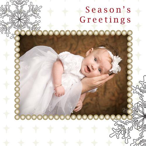 Christmas Cards – Snowflake 5×5