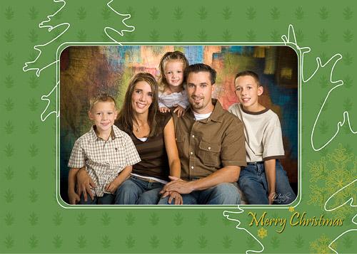 Christmas Leaves 5×7 Christmas Card