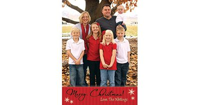 Aaron 5×7 Christmas Card