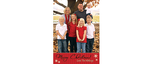Aaron 5×7 Christmas Card