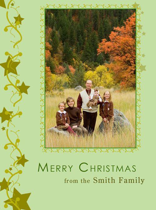 Christmas Cards – Stars Confetti