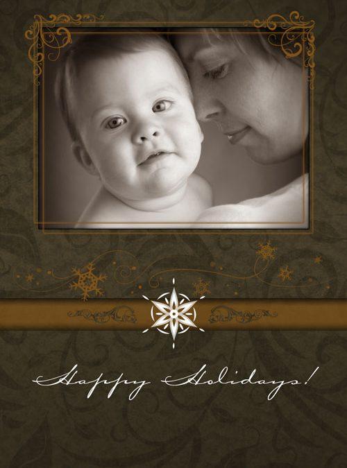 Christmas Card – Gold 5×7