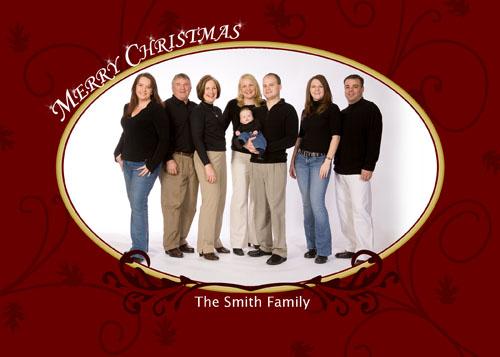 Christmas Card – Red Swirl