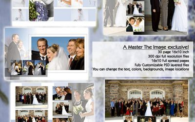 Wedding Album Template 10×10 30 page