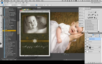 Inserting your images into Christmas Cards