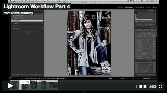 Lightroom – No.4 Workflow Part IV
