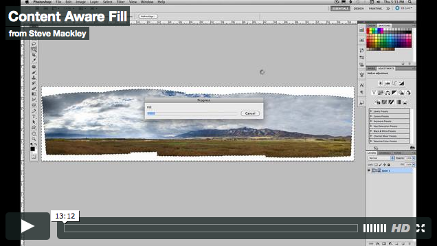 Photoshop – No.43 Content Aware Fill