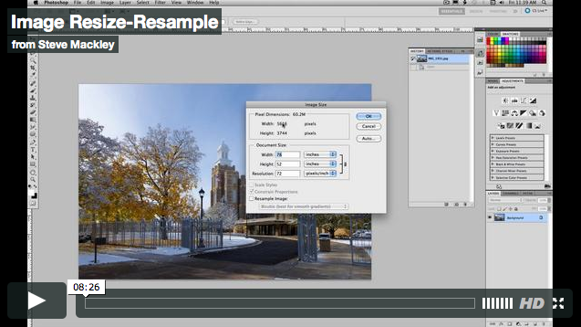 Photoshop – No. 28 Resize and Resample