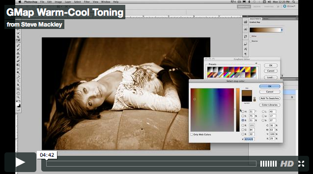 Photoshop – No.15 Gradient Map Warm & Cool Toning