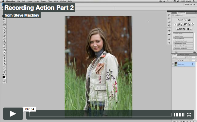 Photoshop – No.12 ACTIONS Part II