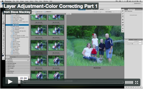 Photoshop – No.5 Color Adjustment w/ layers Part I