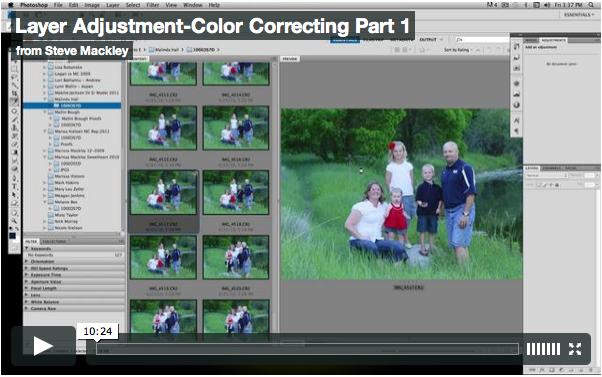 Photoshop – No.5 Color Adjustment w/ layers Part I