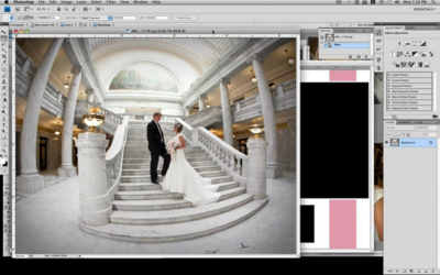 How to use wedding album templates