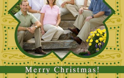Christmas Card -Green Dots