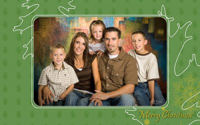 Christmas Leaves 5×7 Christmas Card